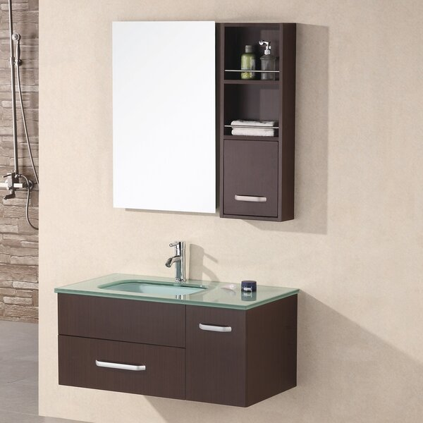 Ariel 35 Single Bathroom Vanity Set with Mirror by Home Loft Concepts