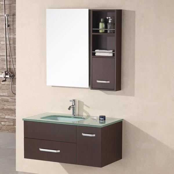 Ariel 35 Single Bathroom Vanity Set with Mirror by Home Loft Concepts