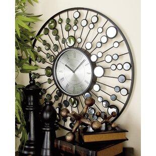 26 metal and mirror wall clock - Mirrored Wall Clock