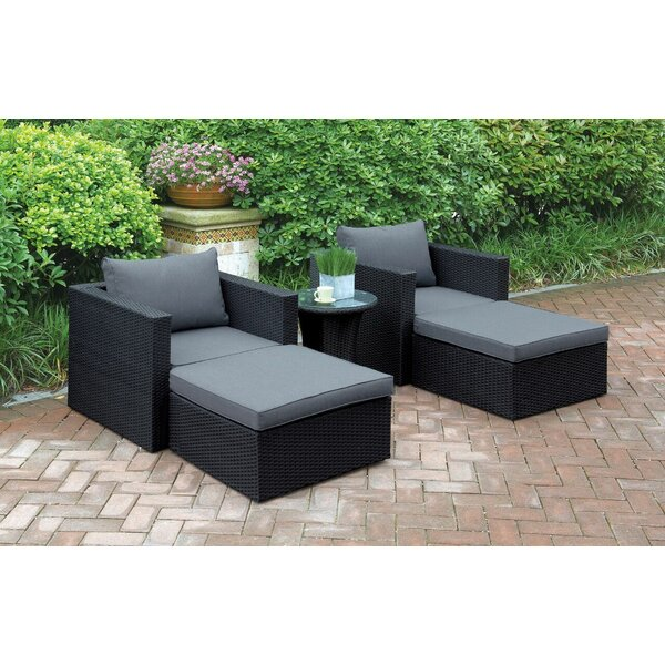 5 Piece Conversation Set with Cushions by JB Patio JB Patio