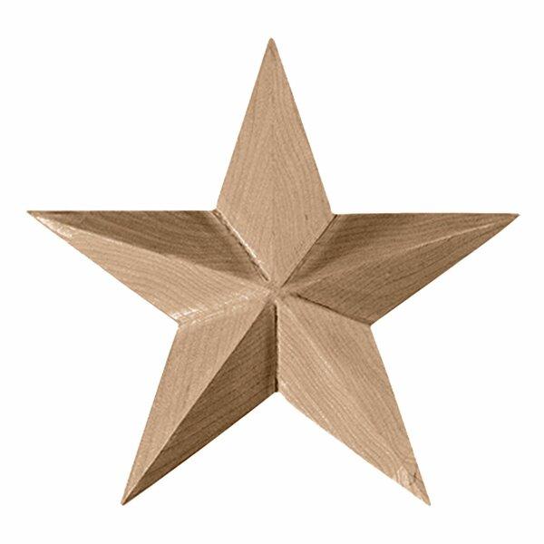 Galveston 4 1/8H x 4 1/8W x 5/8D Star Rosette by Ekena Millwork