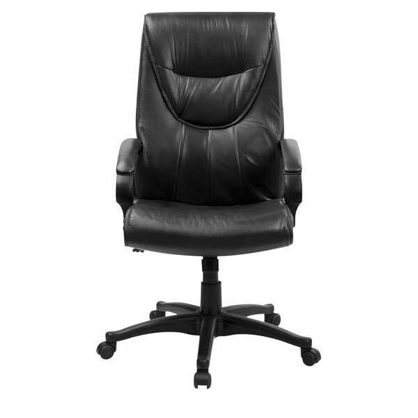 Wooldridge Leather Executive Chair by Symple Stuff