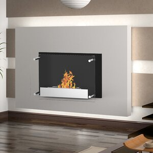 Milan Ventless Wall Mount Ethanol Fireplace by Elite Flame