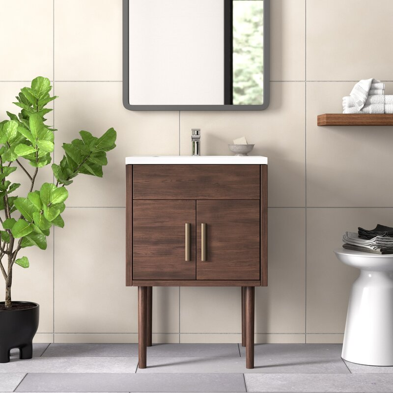 Matthews 24 Single Bathroom Vanity Set