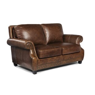 Minor Leather Loveseat by Canora Grey