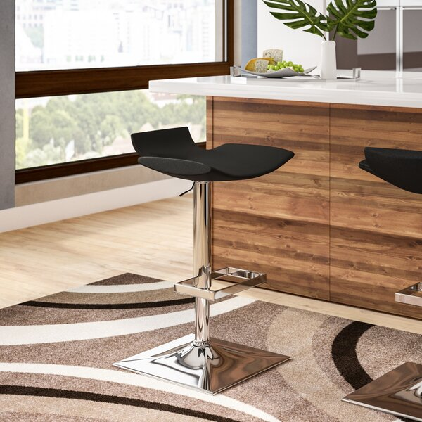Stanford Adjustable Height Bar Stool by Wade Logan
