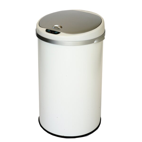 Motion Sensor Metal 13 Gallon Trash Can by Rebrilliant