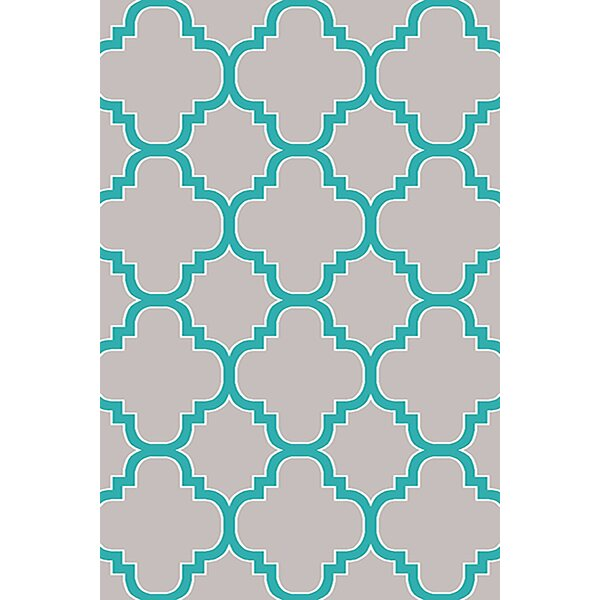 Mccampbell Gray/Blue Area Rug by Ivy Bronx