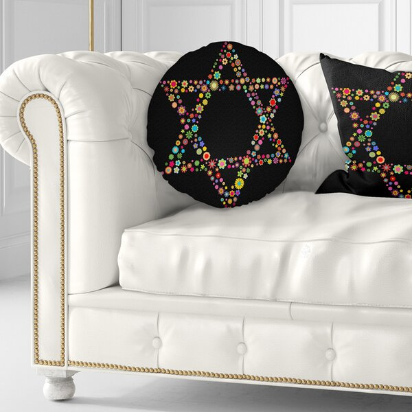 Abstract Star of David Shape Throw Pillow by East Urban Home