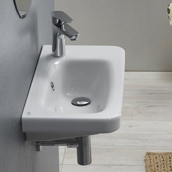 Noura Ceramic Rectangular Drop-In Bathroom Sink with Overflow by CeraStyle by Nameeks