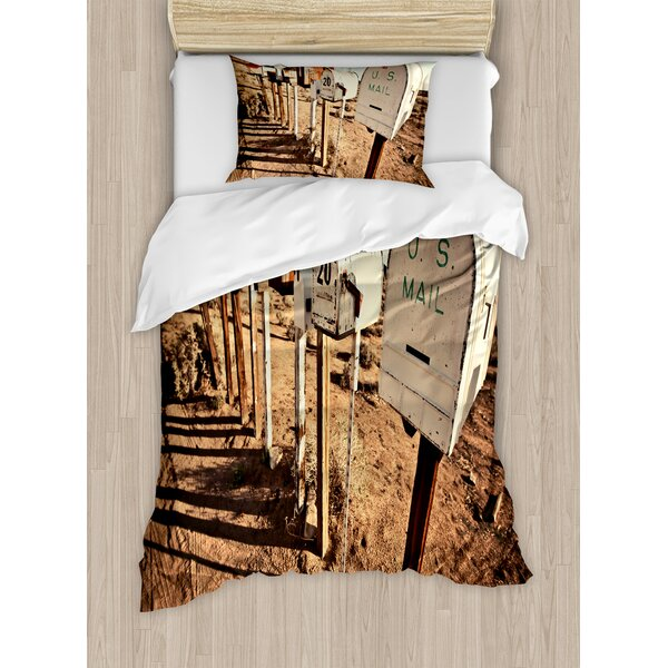Old Mailboxes Duvet Set by East Urban Home