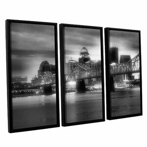 Gritty City by Steve Ainsworth 3 Piece Framed Photographic Print Set by ArtWall