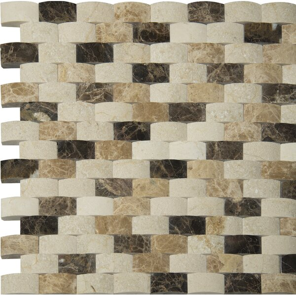 Emperador 1 x 2 Marble Mosaic Tile in Beige by MSI