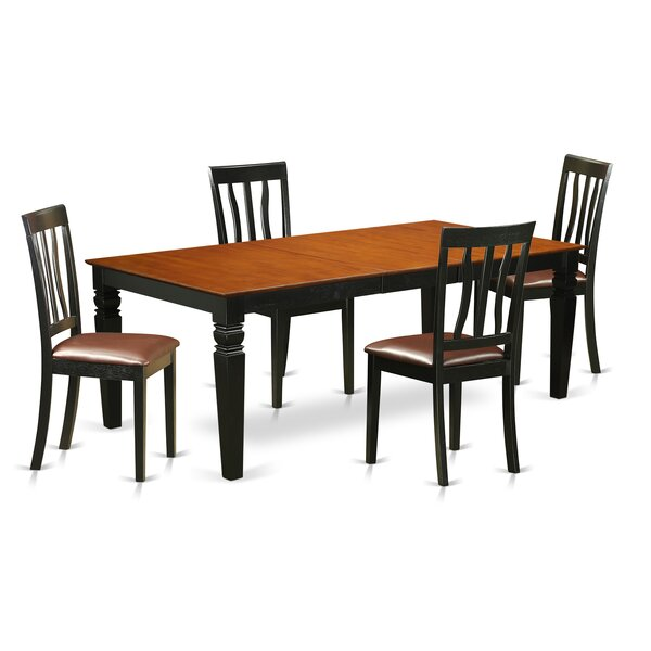 Beesley 5 Piece Extendable Solid Wood Dining Set by Darby Home Co