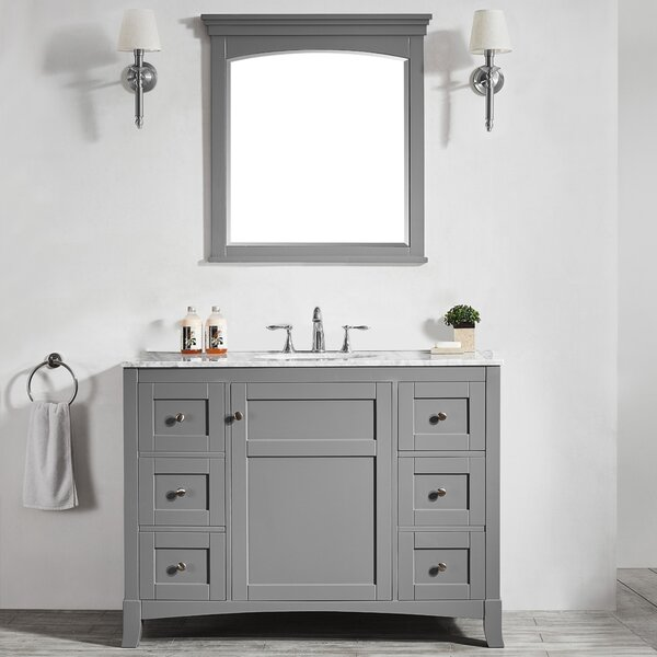 Manningtree 48 Single Vanity Set with Mirror by Highland Dunes