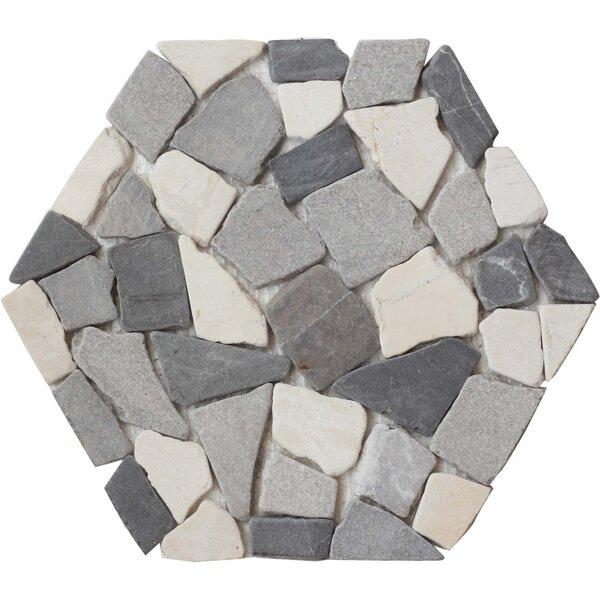 Random Sized Natural Stone Pebble Tile in Light Gray