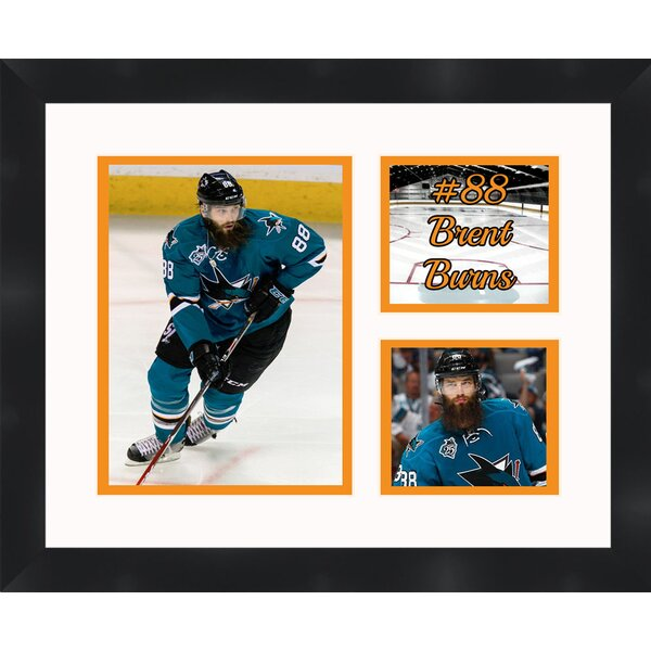 San Jose Sharks Brent Burns 88 Collage Framed Photographic Print by Frames By Mail
