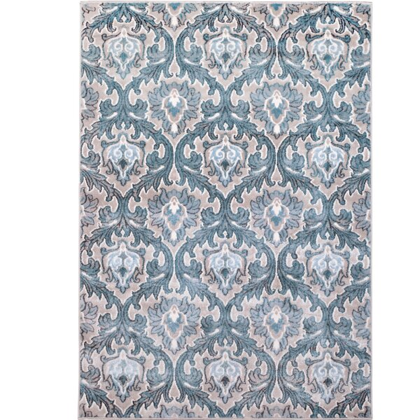 Hawley Blue Area Rug by Three Posts