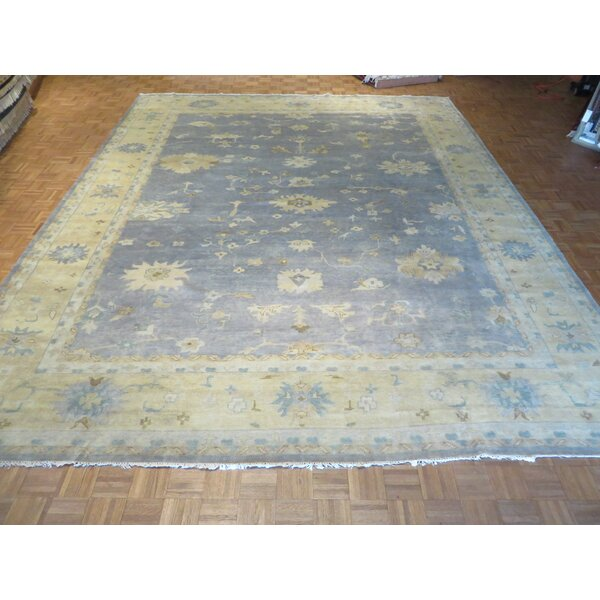 One-of-a-Kind Josephson Turkish Oushak Hand-Knotted Wool Blue Area Rug by Canora Grey