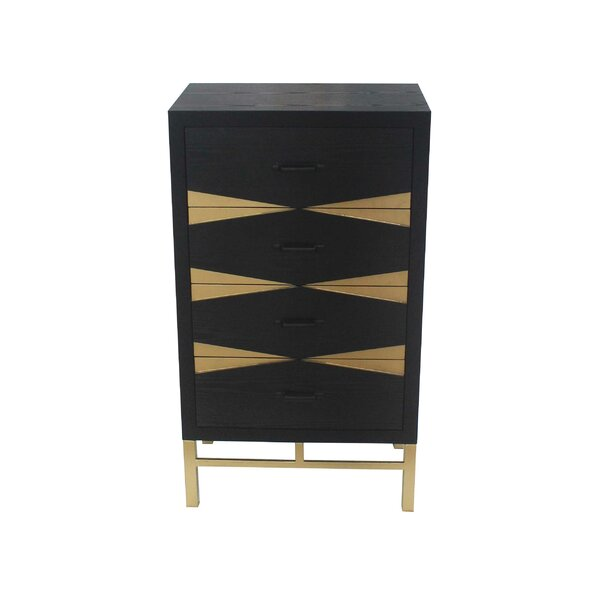 Fairhaven 4 Drawer End Table by Everly Quinn