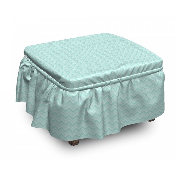 Art Zigzags Ottoman Slipcover (Set Of 2) By East Urban Home