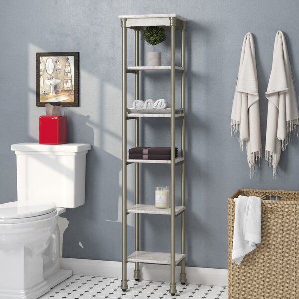 Nauman 13 W x 60 H Bathroom Shelf by Beachcrest Home