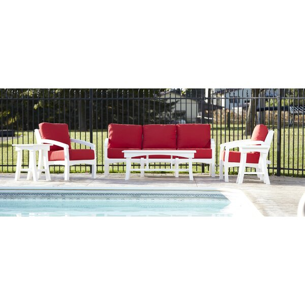 Clabaugh Deep Seating Group with Cushions by Highland Dunes