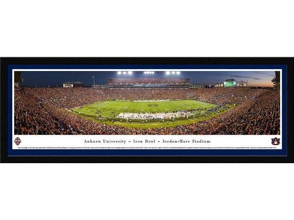 NCAA Auburn University - 50 Yard Line - Twilight Framed Photographic Print by Blakeway Worldwide Panoramas, Inc