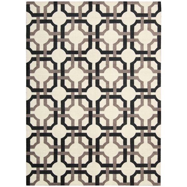 Artisanal Delight Groovy Grille Licorice Area Rug by Waverly