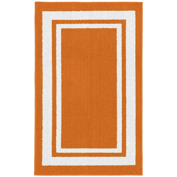 Ackerson Orange/White Indoor/Outdoor Area Rug By Sol 72 Outdoor