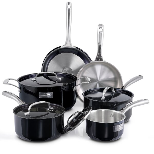 London 10 Piece Stainless Steel Cookware Set by Fleischer and Wolf