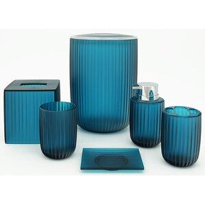 Vienne 6 Piece Bathroom Accessory Set. Blue