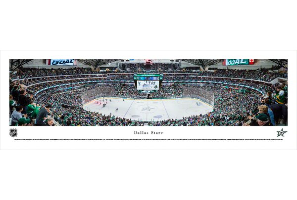 NHL Dallas Stars by James Simmons Photographic Print by Blakeway Worldwide Panoramas, Inc
