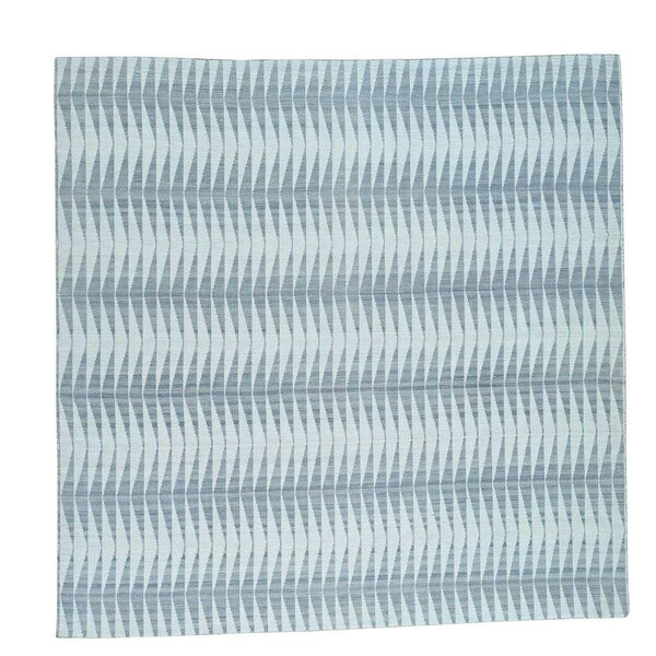 Reversible Flat Weave Durie Kilim Hand-Knotted Gray/Teal Area Rug by Latitude Run