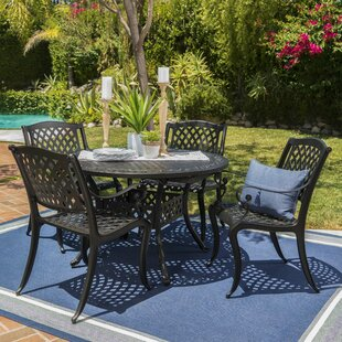 Brouwer Outdoor 5 Piece Dining Set By Fleur De Lis Living