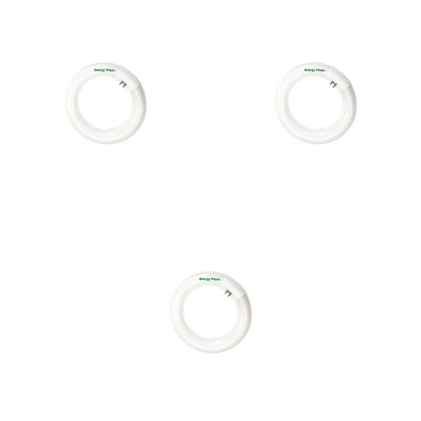 20W G10q Fluorescent Circline Light Bulb Frosted (Set of 3) by Bulbrite Industries