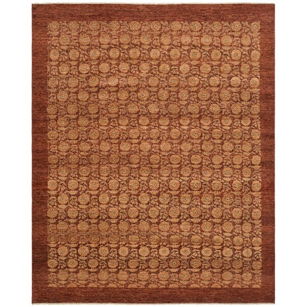 Malak Hand-Knotted Red Area Rug by Bungalow Rose