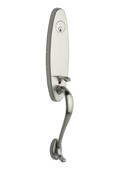Lauren Single Cylinder Entrance Handleset, Exterior Handle Only by Copper Creek