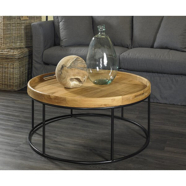 Davisson Solid Wood Drum Coffee Table By Foundry Select