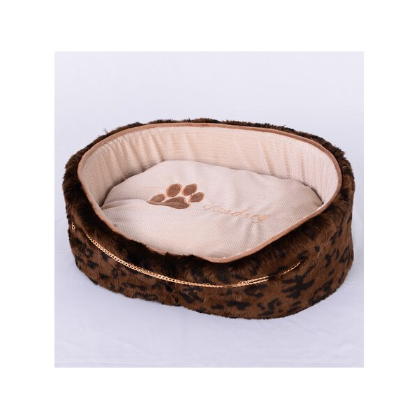 Faux Luxury Leopard Fur Dog Bed by Lindsey Home Fashion