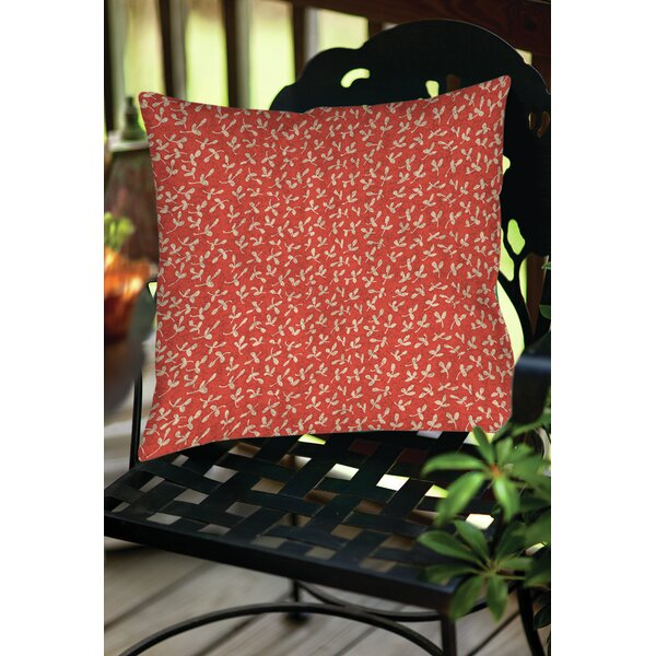 Dream Big Ditsy Florals Indoor/Outdoor Throw Pillow by Manual Woodworkers & Weavers