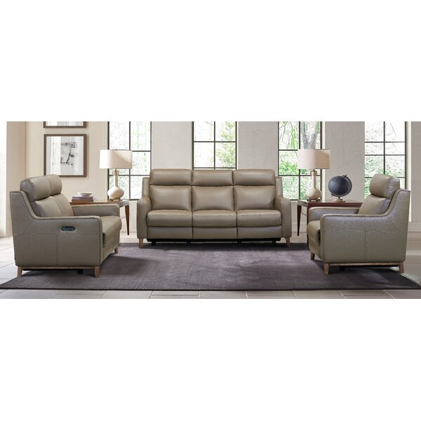 Wisteria Leather Reclining Configurable Living Room Set by Brayden Studio