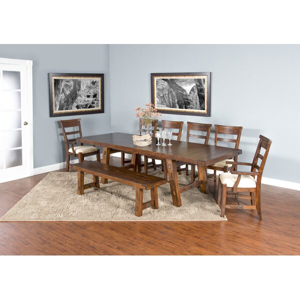 Hardin 8 Piece Extendable Dining Set by Loon Peak