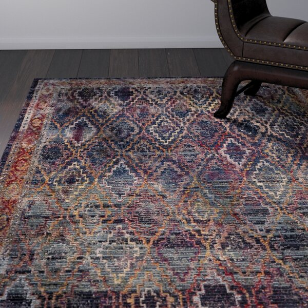 Orkney Navy/Gold Area Rug by World Menagerie