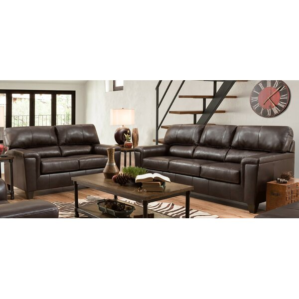 Review Zamudio 2 Piece Leather Living Room Set