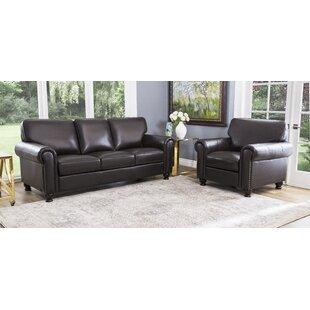 Rella Genuine Leather Living Room Set by Birch Lane™