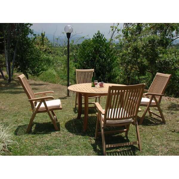 Mike Luxurious 5 Piece Teak Dining Set by Rosecliff Heights