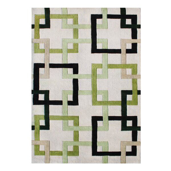 Alliyah Handmade Beige/Green/Black Area Rug by Bridget Moynahan: Curator for a cause