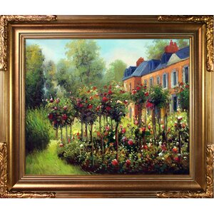 'The Garden at Fontenay' by Pierre-Auguste Renoir Framed Painting by Fleur De Lis Living