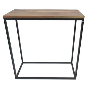Wood And Iron End Table